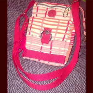 Kipling's Pink Canvas Crossbody Bag